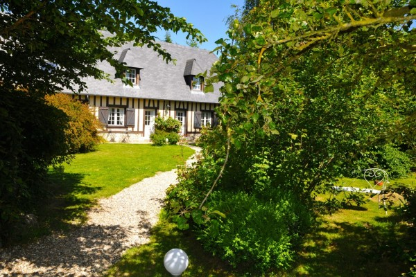 chambre hôtes honfleur bois pierre maison jardin