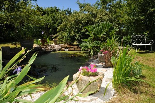 chambre hôtes honfleur bois pierres jardin mare