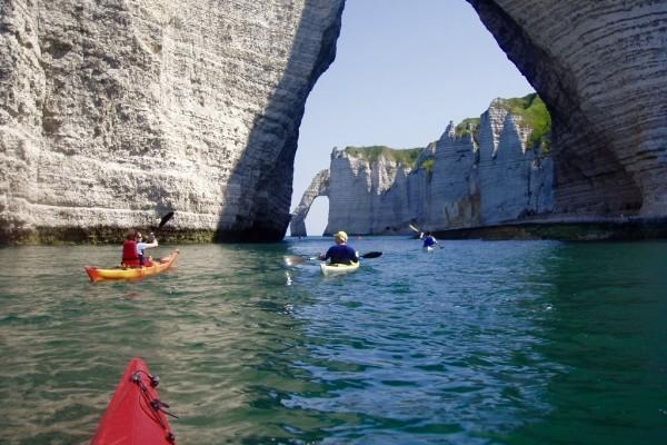 chambre hôtes honfleur etretat activité kayak bois pierres